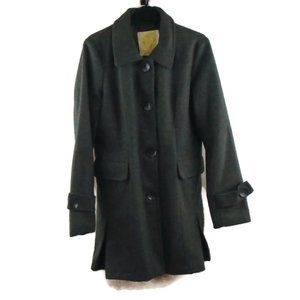 Wet Seal Jacket L Wool Blend Winter Coat Gray Grey